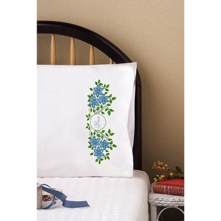 """Stamped Pillowcase Pair For Embroidery 20""""X30""""-Love"""