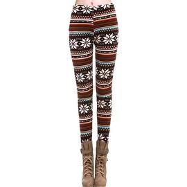 Hot Winter Warm Xmas Snowflake Reindeer Knitted Pants Skinny Leggings ONE SIZE