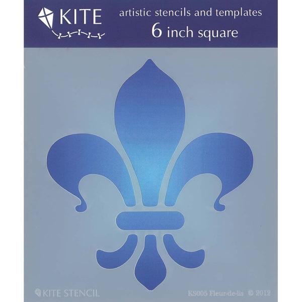 "Judikins Kite Stencil 6"" Square-Fleur De Lis"