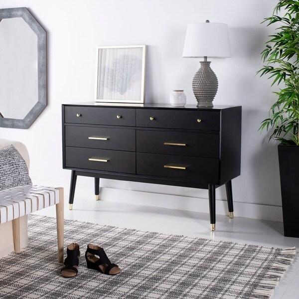 Safavieh Couture Madden Retro Dresser - Black / Brass. Opens flyout.