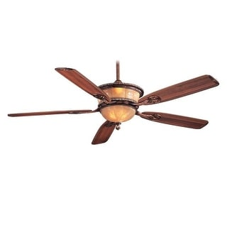 "MinkaAire Santa Lucia 5 Blade 60"" Ceiling Fan - Light, Wall Control and Blades Included"
