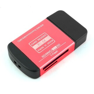 USB 2.0 All in One Multi Memory Card Reader Red for Mini SD MMC T-Flash M2