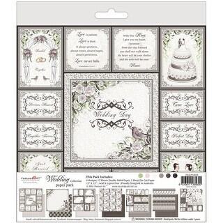"Wedding Paper Pad 12""X12""-6 Designs/2 Each, 1 Die Cut Sheet"