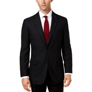 Link to Tommy Hilfiger Mens Two-Button Blazer Wool Blend Business - Charcoal - 46L Similar Items in Sportcoats & Blazers
