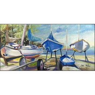 Carolines Treasures JMK1314HRM2858 Sailboats Dry Dock Indoor & Outdoor Runner Mat 28 x 58 in.
