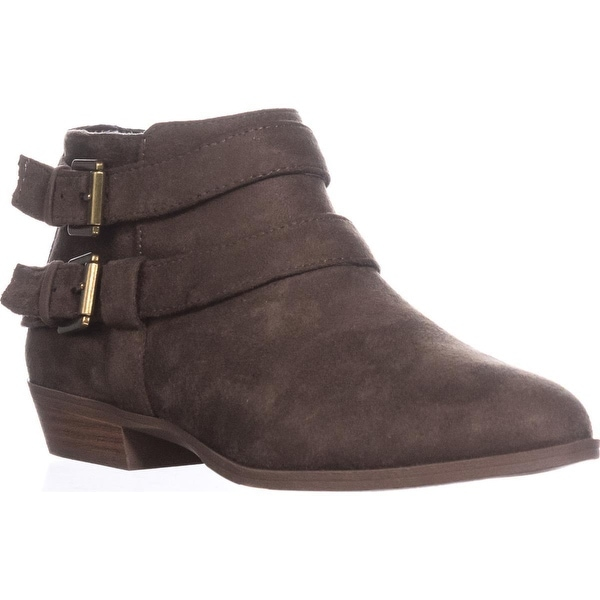 SC35 Deenah Double Buckle Ankle Booties, Dark Olive - 6.5 us