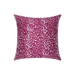 Porch & Den Kingsland Indoor/ Outdoor Leopard Lilac 20-inch Throw Pillow