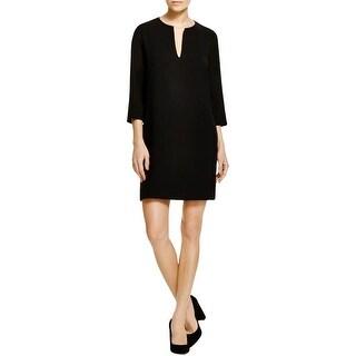 Karen Kane Womens Casual Dress Crepe Split Neck