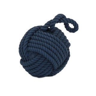 IMAX Home 81409 Hauer Blue Nautical Rope Ball