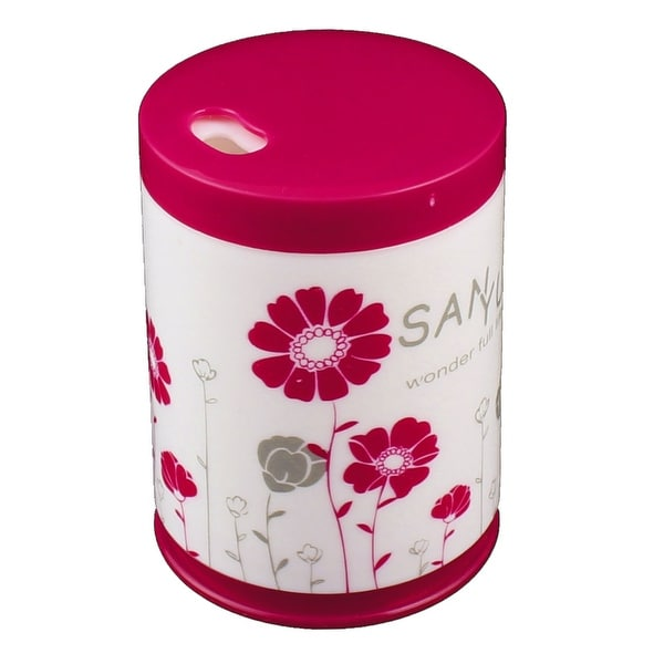Shop Home Plastic Cylinder Shaped Floral Pattern