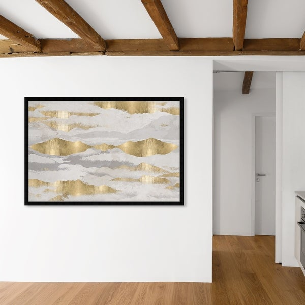 Oliver Gal 'Mountains Of Life' Abstract Wall Art Framed Print Textures - Gold, Gray. Opens flyout.