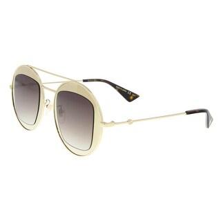 Gucci GG0105S 002 Gold Round Sunglasses - 47-27-145