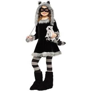 Fun World Sweet Raccoon Child Costume - Black/Grey (2 options available)