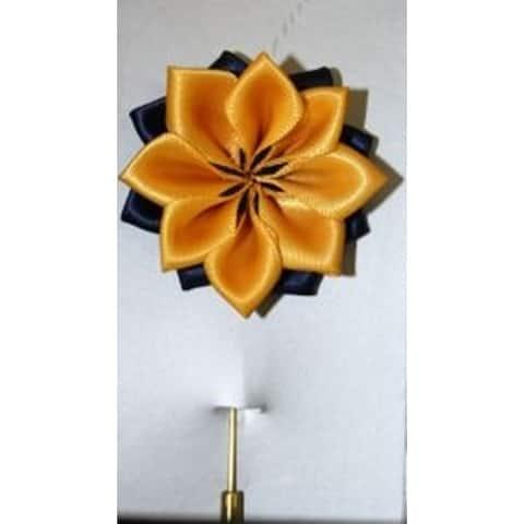 Men's Solid Lotus Flower Lapel Pin Boutonniere For Suit