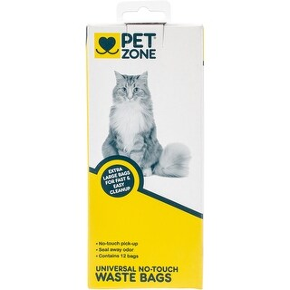 Pet Zone Universal No Touch Waste Bags 12/Pkg-