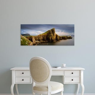 Easy Art Prints Panoramic Images's 'View of Neist Point peninsula, Isle of Skye, Scotland' Premium Canvas Art
