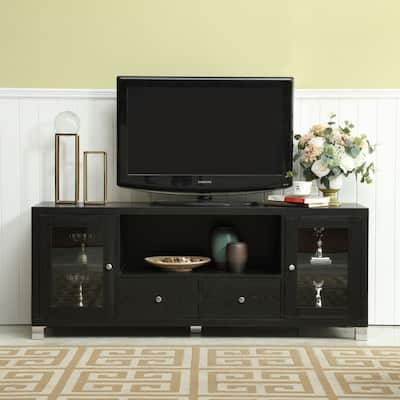 """TV Stand Media Console with Adjustable Shelves Cabinet Door - 58""""x15.5""""x22.80"""""""