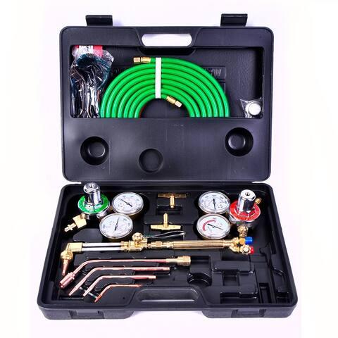Gas Welding Cutting Kit Oxy Acetylene Oxygen Torch Brazing Fits VICTOR W/Hose