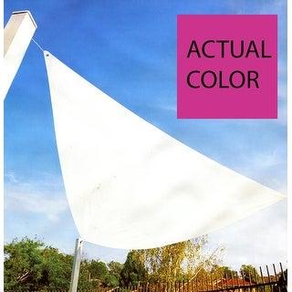 11.75' Bright Pink Triangular Outdoor Patio Sun Shade Tarp
