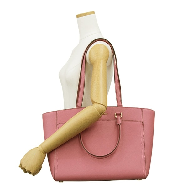 1b0e09514f4f Shop Michael Kors Emmy Large Handbag (35s8gy3t7l) Pink Leather Tote - On  Sale - Free Shipping Today - Overstock - 23070493