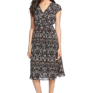 Classiques Entier NEW Black Women's Size 8 Empire Waist Silk Dress