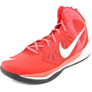 Nike Prime Hype DF Men Round Toe Synthetic Red Basketball Shoe
