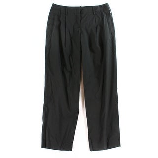 Theory NEW Black Women's Size 8X28 Front-Tab Pleated Dress Pants