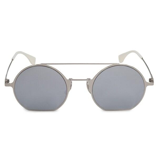 82bde30571bc6 Shop Fendi Eyeline FF0291 010 DC 48 Round Sunglasses - Free Shipping ...
