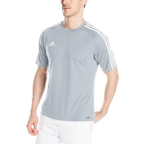 916806e2b23 Adidas Men s Estro 15 Soccer Jersey T-Shirt Light Gray White - Grey