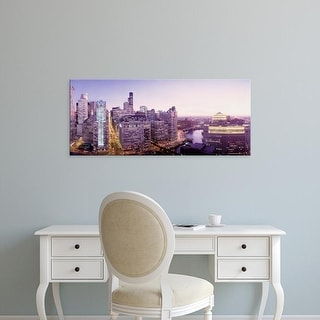 Easy Art Prints Panoramic Images's 'High angle view of a city, Chicago, Illinois, USA' Premium Canvas Art