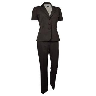 Tahari by ASL Women's Palm Beachy Short Sleeve Pant Suit - 0p