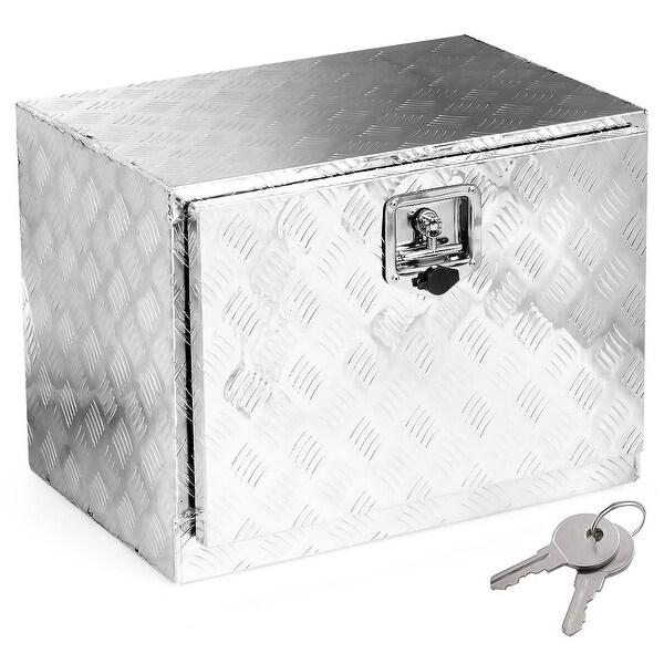 "24/""x17/""x18/"" Truck Under Bed Tool Box Underbody Storage Pickup Trailer w//Lock"