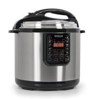 Della 12 Quart 1600-Watt Electric Pressure Cooker Multi-Functional Timer Slow Cook XL (Stainless Steel)