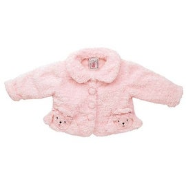 Fuzzy Wear Girls Pink Poodle Jacket, 18-24 months