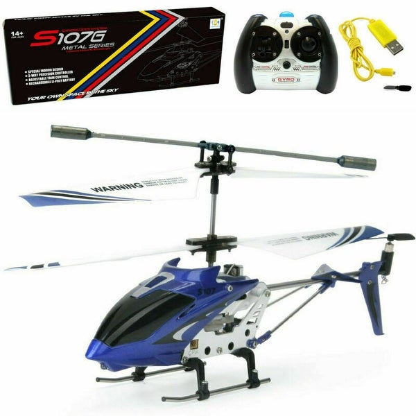 Syma S107G 3CH 3.5CH Mini Metal RC Helicopter Remote Control Vehicle Blue. Opens flyout.