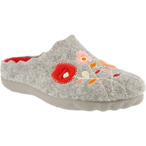 Flexus by Spring Step Women's Wildflower Slipper Gray Wool