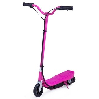Gymax Rechargeable Electric Scooter 24 Volt Motorized Ride On Outdoor For Teens Rose