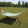 Sunnydaze Wooden Curved Arc Hammock Stand - Thumbnail 19