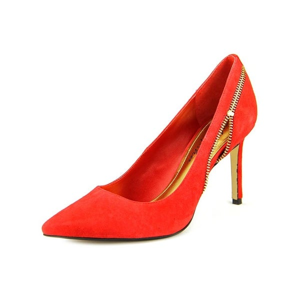 Marc Fisher Heli Women Pointed Toe Suede Red Heels