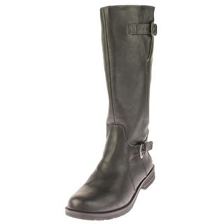 Natural Soul Womens Brixton Riding Boots Faux Leather Buckle