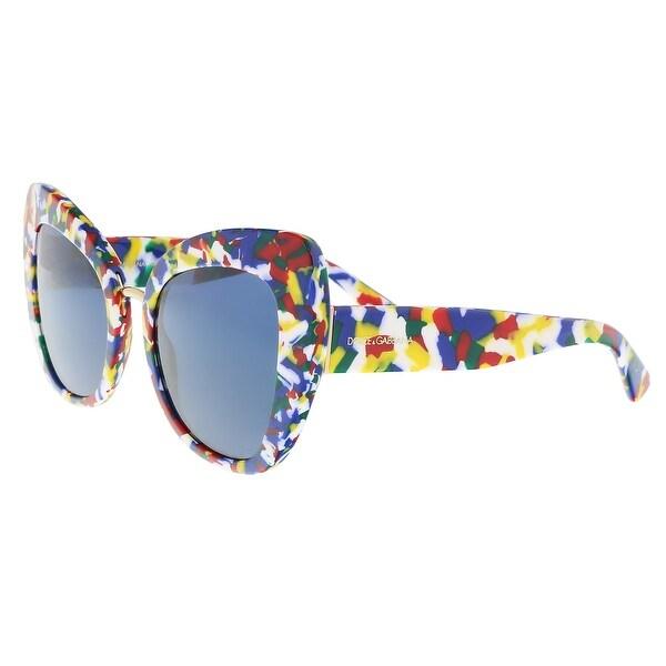 3990f763c24 Dolce  amp  Gabbana DG4319 317672 Multicolor Cube Cat Eye Sunglasses -  Multi - 51-