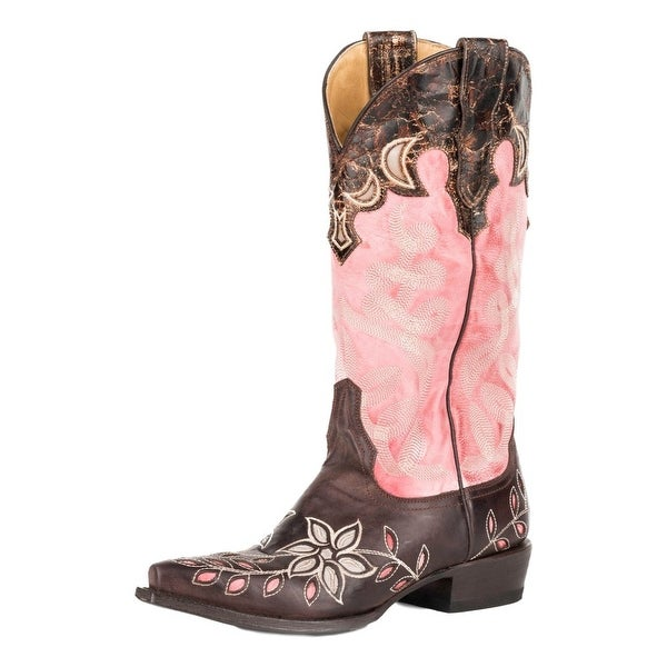 Stetson Western Boots Womens April Wingtip Laser