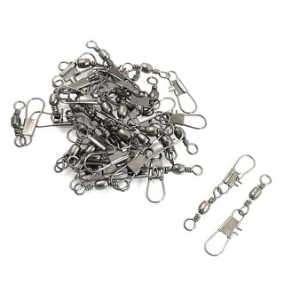 Unique Bargains 30 Pieces Gray Metal Fishing Line to Hook Shank Connector 7#