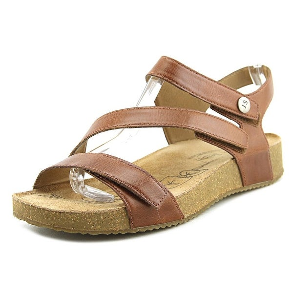 Josef Seibel Tonga 25 Women Open Toe Leather Brown Sandals