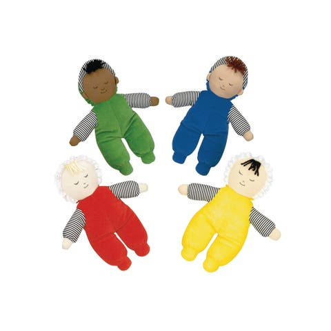 Children's Factory Baby's First Dolls, Multi-Ethnic Assorted Skin Tone Colors, Set of 8
