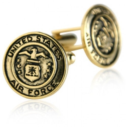 USAF Air Force Cufflinks Gold Military