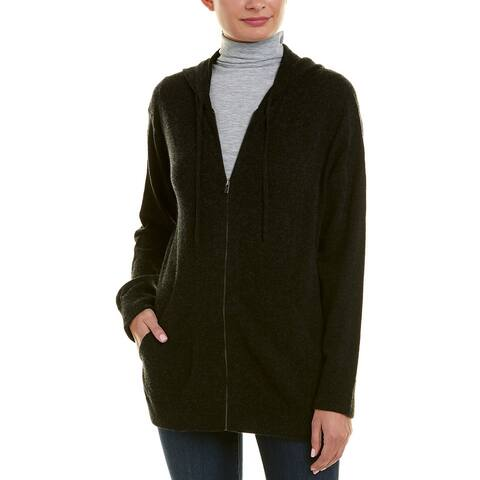Vince Zip-Front Wool & Cashmere-Blend Hoodie