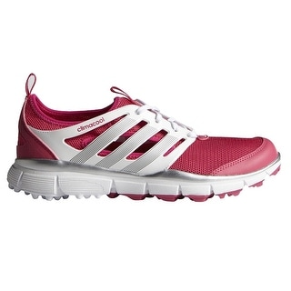 Adidas Women's Climacool II Raspberry/White/Silver Golf Shoes F33303