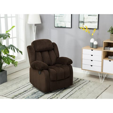 Overstuffed Single Sofa Home Theater Seating Lounge Recliner Chair