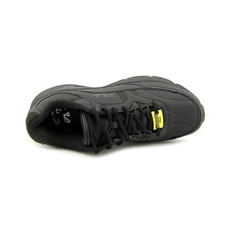 Fila Memory Workshift Men Round Toe Leather Black Work Shoe